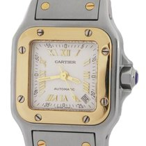 Cartier Santos Galbée Gold/Steel 24mm Silver Roman numerals United States of America, New York, Smithtown