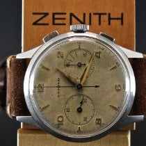 Zenith Steel 34,5mm Manual winding Zenith Cal 143 Excelsior Park pre-owned
