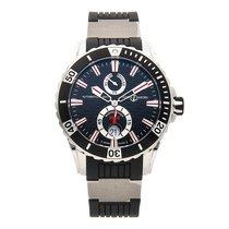 Ulysse Nardin Diver Chronometer Staal 44mm Zwart Geen cijfers