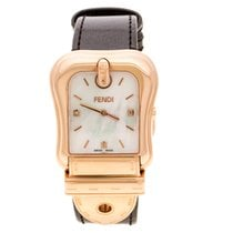Fendi Oro rosado Cuarzo Fendi White Mother of Pearl Rose Gold Plated Stainless Steel usados