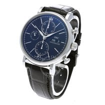 IWC Portofino Chronograph Steel 42mm Black No numerals