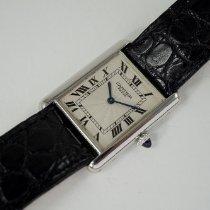 Cartier Tank Louis Cartier Platin 24mm Silber Römisch