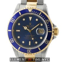 Rolex Submariner Steel & Gold Blue Dial T Serial Circa 1996