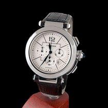 Cartier pasha steel chrono automatic