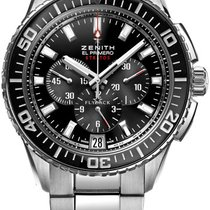 Zenith El Primero Stratos Flyback Steel 51mm Black United States of America, New York, Brooklyn