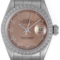 Rolex Ladies Datejust Stainless Steel Watch Rose Roman Dial