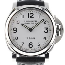Panerai Luminor Base 8 Days Acero 44mm Blanco