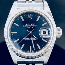 Rolex Oyster Perpetual Lady, Date, Blue Dial, Full B&P2006 - MINT