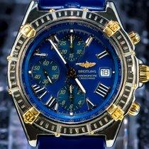 Breitling Chronomat Valjoux Gold Subdials Blue Dial Gold/Steel...