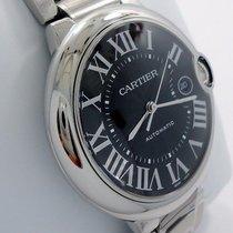 Cartier Ballon Bleu 3765 42mm X-large Automatic Ss Black Dial B&p