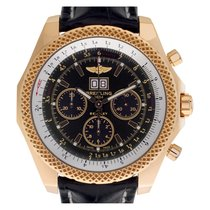 Breitling Rose gold Automatic Black 48mm pre-owned Bentley 6.75