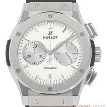 Hublot Steel Automatic Silver No numerals 45mm new Classic Fusion Chronograph