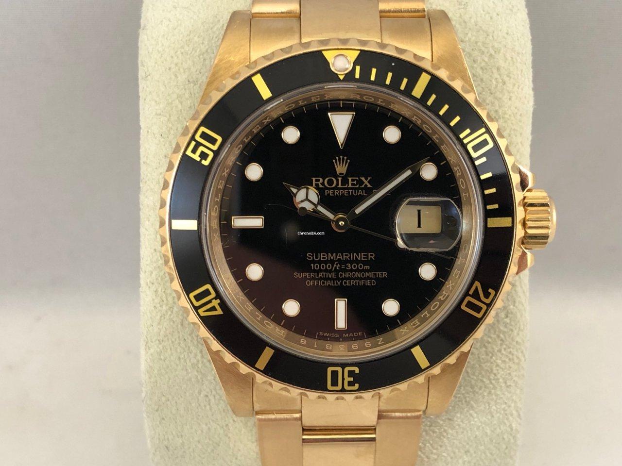 gezellig fris goedkope prijzen betaalbare prijs Rolex Submariner Date 16618 Yellow Gold ( 2007 )