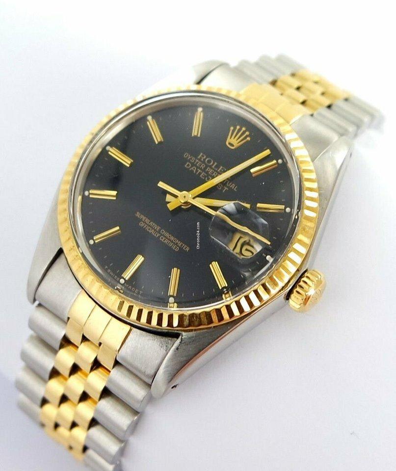e8f62e4ff79 Rolex Datejust Herren Uhr Black Dial Stahl/gold Ref.16013 für 3.999 €  kaufen von einem Trusted Seller auf Chrono24