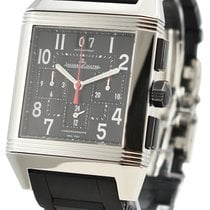 Jaeger-LeCoultre Reverso Squadra Chronograph GMT pre-owned 41mm Black GMT Rubber