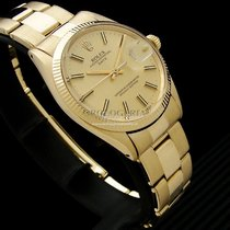 Rolex pre-owned Automatic 34mm Gold Plexiglass 10 ATM