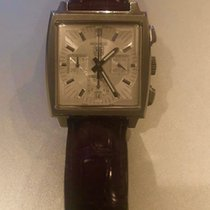 TAG Heuer Silver Automatic 40mm pre-owned Monaco