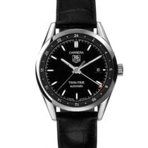 TAG Heuer CARRERA CALIBRE 7 TWIN TIME AUTOMATIC WATCH 39 MM