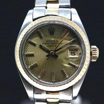 Rolex Date Stahl Gold Automatik Ref 6900 Gold Dial