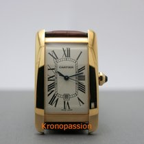 Cartier Tank Americaine Large Automatic 18K Yellow Gold