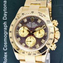 Rolex Daytona 18k Gold Chronograph Watch Rare Diamond Dial...