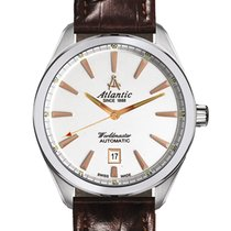 Atlantic new Automatic Central seconds Luminous hands 42mm Steel Sapphire crystal