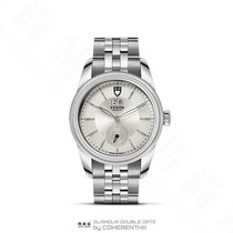 Tudor Steel Automatic Silver No numerals 42mm new Glamour Double Date