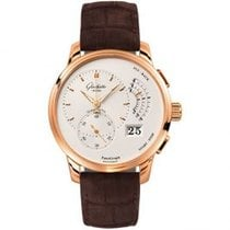 Glashütte Original PanoGraph Rose gold 40mm Silver United States of America, Pennsylvania, Holland