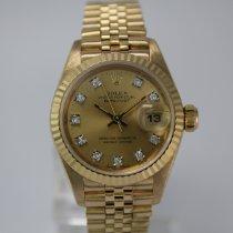 Rolex Lady-Datejust LC100 Diamond #1034 18k Gold Box, Papiere