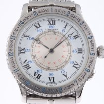 Longines Lindbergh Hour Angle Steel 38mm White Roman numerals