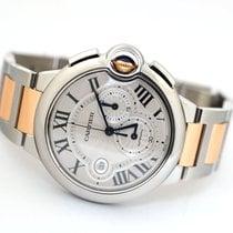 Cartier Ballon Bleu 44mm pre-owned 44mm Silver Chronograph Date Gold/Steel