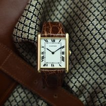 Cartier Tank (submodel) Yellow gold 27mm White Roman numerals