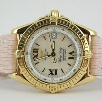 Breitling Wings Lady Gelbgold Perlmutt