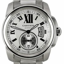 Cartier Calibre de Cartier Steel 42mm Silver Roman numerals United States of America, New York, Lynbrook