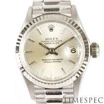 Rolex Or blanc Remontage automatique Argent Sans chiffres 25mm occasion Oyster Perpetual Lady Date