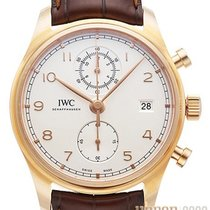 IWC Portuguese Chronograph Or rouge 42mm Argent Arabes