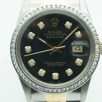 Rolex Datejust 36mm Two Tone Black Diamonds Dial &...