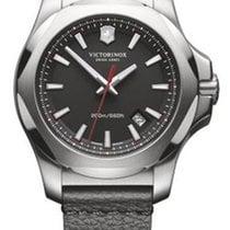 Victorinox Swiss Army I.N.O.X. Dial Black Leather Black Strap...
