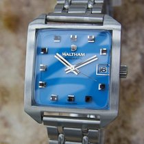 Waltham Men's Swiss Made 1970s Manual Stainless Steel...