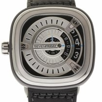 Sevenfriday New M Series Steel Rubber 47mm Leather Box/Paper/2...