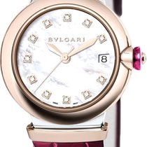 Bulgari Lucea Gold/Steel 33mm Mother of pearl Roman numerals