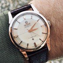 Omega Constellation Pie Pan Rose Pink Gold Crosshair dial watch