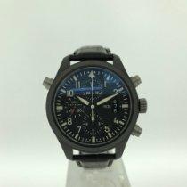 IWC Pilot Double Chronograph Cerâmica 44mm Preto Árabes