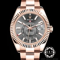 Rolex Sky-Dweller Rose gold 42mm Brown Roman numerals