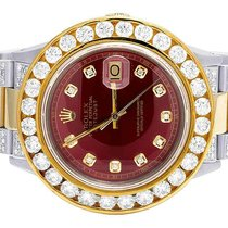 Rolex Steel Automatic Red 41mm pre-owned Datejust