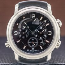 Blancpain Léman Réveil GMT Titanium 41mm Black Arabic numerals United States of America, Massachusetts, Boston