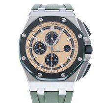 Audemars Piguet Royal Oak Offshore Chronograph pre-owned 44mm Champagne Chronograph Date Rubber