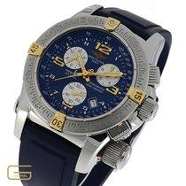 Breitling Emergency gebraucht 45mm Blau Chronograph Datum Kautschuk
