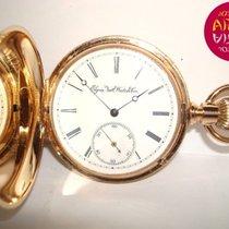 Elgin Oro rosa Cuerda manual Blanco Romanos 50mm usados