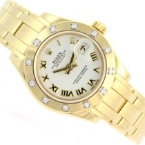 Rolex DATEJUST PEARLMASTER  2013 18K YELLOW GOLD FACTORY DIAMONDS